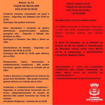 Com pontos turísticos já fechados, Chapada dos Guimarães terá lockdown a partir do próximo domingo 12 de julho