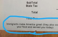 Restaurante põe em conta mensagem contra política migratória de Trump