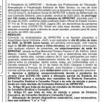 Siprotaf convoca sindicalizados para AGO que vai deliberar sobre prorrogação dos mandatos da atual gestão