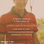 Missa de 7º dia de falecimento do ATE Jairo Carlos de Oliveira