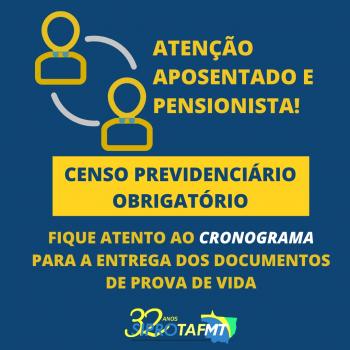 Confira o cronograma e documentação necessária para a realização do Censo Previdenciário