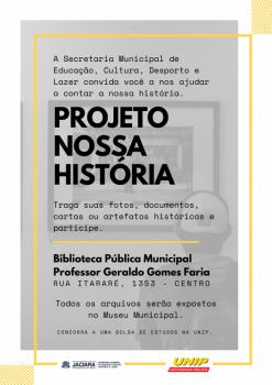 Prefeitura lança projeto para contar a história de Jaciara
