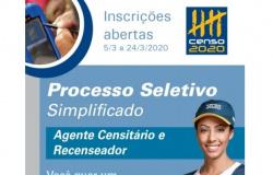 IBGE contratará 54 recenseadores e 17 agentes censitários municipais para atuarem no Vale do São Lourenço
