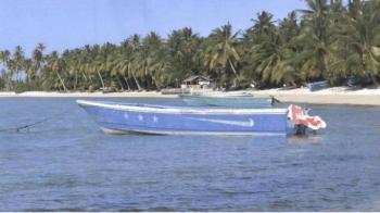 Barco com 649 quilos de cocaína encalhado nas Ilhas Marshall (Reprodução).