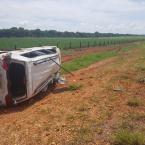 Carro que capotou na MT-010 foi furtado em Nova Mutum