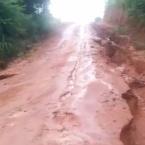 Excesso de chuvas destrói estrada e prejudica produtores em São José do Rio Claro