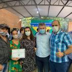 hauahuahauhauhauahhauhauahuahuahauhuGovernador Mauro Mendes entrega à produtora rural o primeiro certificado do Selo de Origem  Rio-Clarense.