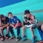 hauahuahauhauhauahhauhauahuahuahauhuShow de talento na escolinha de futsal em São José do Rio Claro