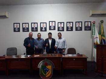 Direita para esquerda: Wagner Lordano, Rafael Heliodoro, Neto Destefane e Paulinho Brilhante