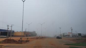 São José do Rio Claro amanhece com nevoeiro nesta quinta-feira; veja imagens