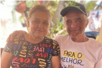 Última foto do casal, tirada no dia dos pais de 2021