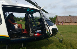 Ciopaer resgata criança em área indígena na região Barão de Melgaço