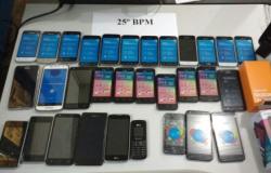 Polícia Militar recupera 32 aparelhos celulares avaliados em R$ 13 mil