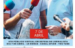 Ato virtual em defesa do/a jornalista; é hoje (dia 7)