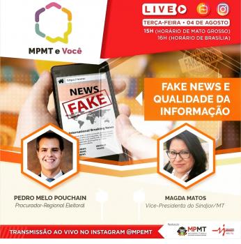 Confira live na íntegra - Sindjor e MP debatem fake news