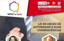Sindjor-MT e MP fazem live sobre Lei de Abuso de Autoridade amanhã (terça, 11)