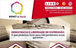 Diploma para jornalista, Direito de Resposta e Frente Pró-Democracia em MT são temas de live amanhã (terça, 18)