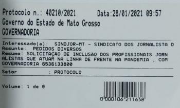 SINDJOR/MT QUER INCLUIR JORNALISTAS QUE COBREM A PANDEMIA COMO GRUPO PRIORITÁRIO PARA VACINAÇÃO CONTRA COVID-19
