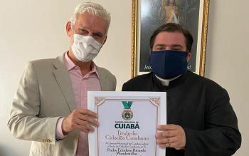 Título de Cidadão Cuiabano - Padre Ednilson Ricardo Wasdestilha