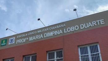 Inauguração da reforma da Escola Cívico Militar Maria Dimpina Lobo Duarte