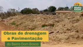 Pavimentação asfáltica no bairro Dom Bosco