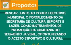 Proposta: Buscar junto ao poder executivo municipal o fortalecimento da Secretaria de Cultura, Esporte e Lazer