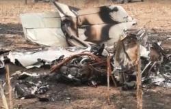 Vídeo mostra destruição de local que avião caiu em Guarantã do Norte