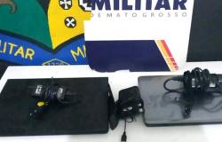 Sinop: criminoso furta computadores de escritório, tenta invadir loja e dono reage com facão