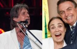 """Roberto Carlos defende Regina na cultura: """"Sou fã dela desde sempre"""""""