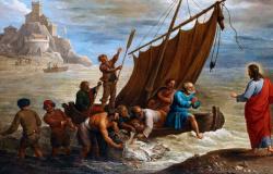 Jesus aparece a alguns dos discípulos junto do mar de Tiberíades