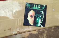 PRF apreende toneladas de maconha com adesivo do Hulk