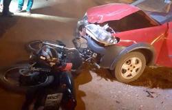 Motociclista fica ferido após colisão com veículo na rodovia Sinop-Santa Carmem