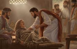 A cura da sogra de Pedro Mt.8:14-17 e Lc 4,38-44
