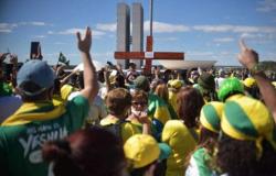 Manifestantes em Brasília defendem voto impresso