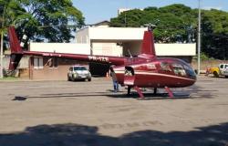 Piloto de helicóptero carregado com droga é preso no Paraná