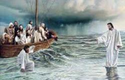 Jesus anda por cima do mar Mt.14:22-36 e Mc 6,45-52