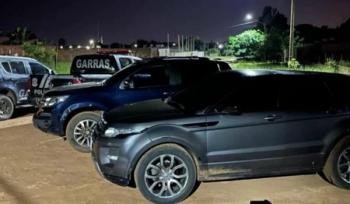 Veículos roubados foram encontrados com o grupo durante a ação policial Foto: Divulgação