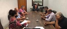 O prefeito de Marcelândia recebe o Líder do Governo na Assembleia Legislativa do MT, Deputado Dilmar Dal Bosco