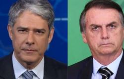"""Bolsonaro detona Bonner: """"Vem mentir no Jornal Nacional com aquela cara de pastel!"""""""