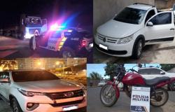 Polícia Militar recupera diversos veículos em três cidades de MT