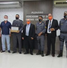Marcelândia: O Tenente Coronel PM James recebeu Moção de aplauso na tarde ontem na Câmara de vereadores