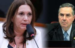 Bia Kicis reage a campanha do TSE de Barroso: 'O ministro está gastando dinheiro do contribuinte para fazer campanha contra o voto impresso'