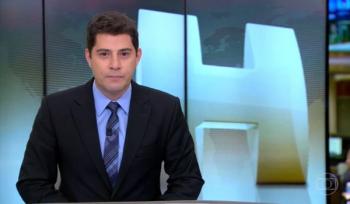 Evaristo Costa apresentava o Jornal Hoje na época Foto: Reprodução