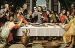 A última páscoa; A santa ceia Mt.26:17-30e Mc 14,12-16.22-26