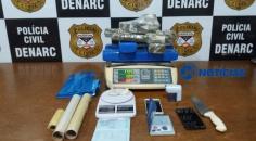Denarc apreende quase oito quilos de maconha na zona leste da capitalA Polícia Civil através do Departamento de Narcóticos (Denarc) realizou a apreens
