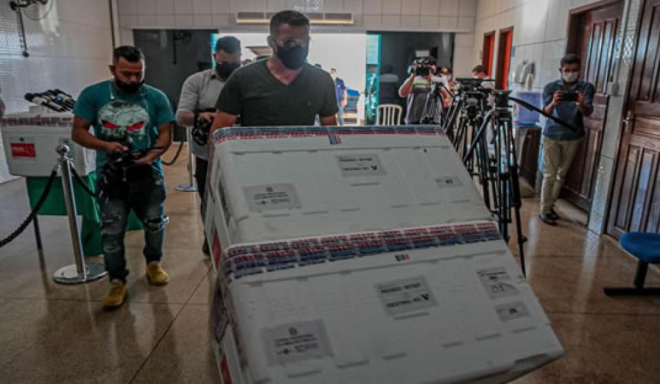 Rondônia recebe do Governo Federal mais um lote de vacinas contra covid-19