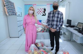 Prefeitura doa alimentos arrecadados na campanha Vacina Contra a Fome