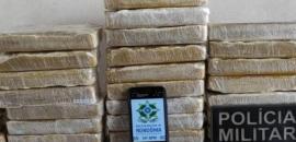 Homem é preso em flagrante com 40 kg de cocaína na zona rural
