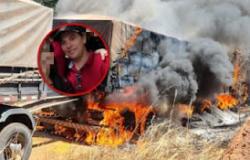 Motorista morre queimado após colisão envolvendo carreta e caminhão na rodovia 247