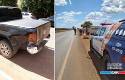 Acidente De Trânsito Entre Caminhonete E Moto Deixa Homem Gravemente Ferido Em Campo Novo Do Parecis
